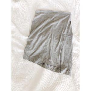 Dresses & Skirts - Grey Bodycon Skirt w/slant